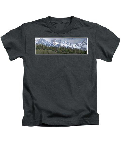 Tetons Panorama Kids T-Shirt