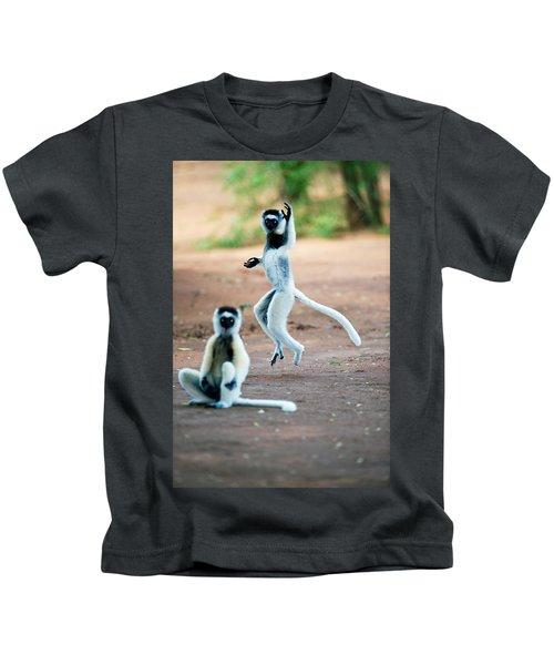 Verreauxs Sifaka Propithecus Verreauxi Kids T-Shirt