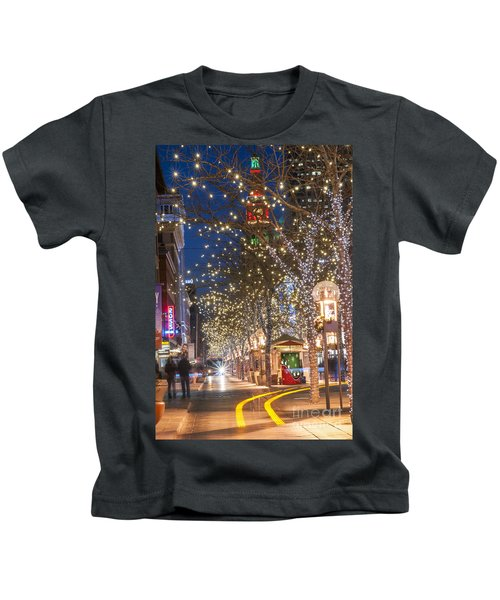 16th Street Mall In Denver Holiday Time Kids T-Shirt