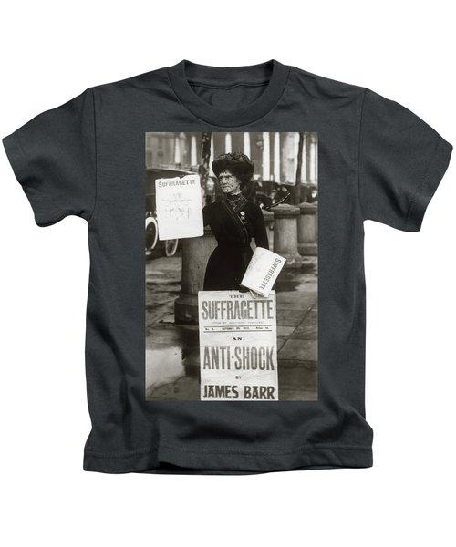 1900s British Suffragette Woman Kids T-Shirt