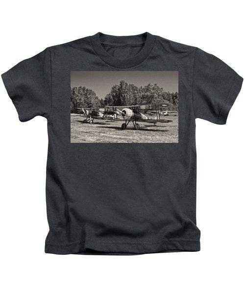 1917 Nieuport 28c.1 Classic Biplane Kids T-Shirt