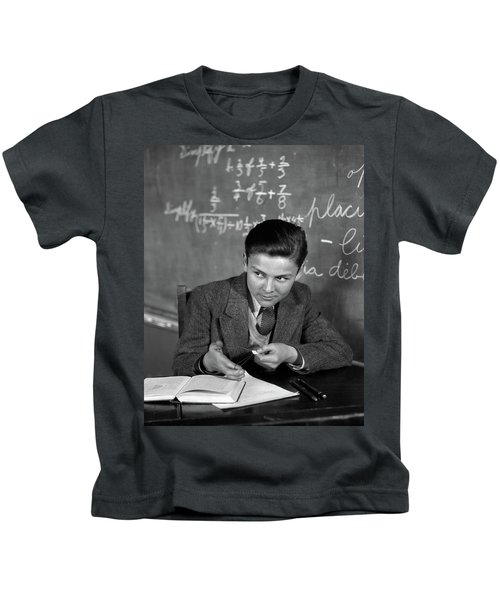 1920s 1930s Boy At Desk In Classroom Kids T-Shirt