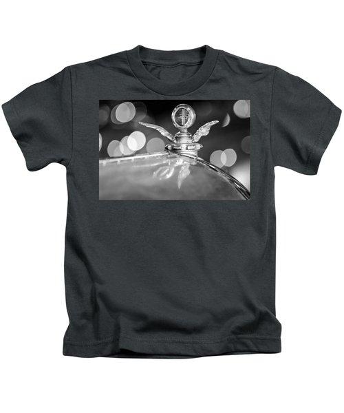 1921 Bentley Motometer Hood Ornament -0471bw Kids T-Shirt