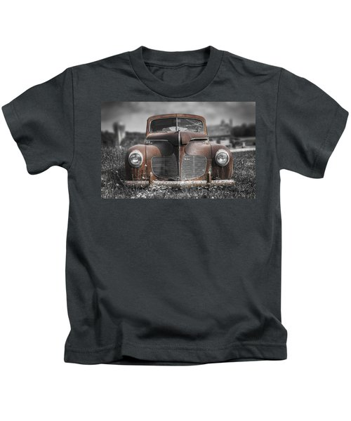 1940 Desoto Deluxe With Spot Color Kids T-Shirt