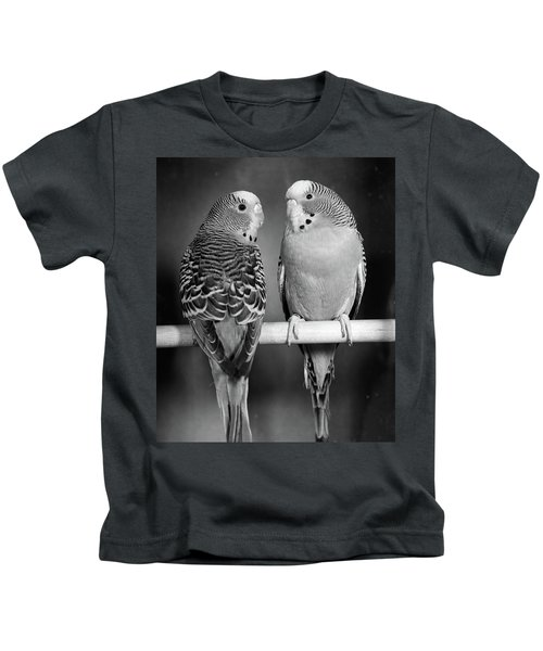 1960s Pair Of Parakeets Perched Kids T-Shirt