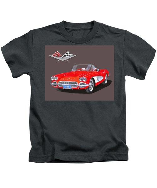 1961 Corvette Convertible Kids T-Shirt