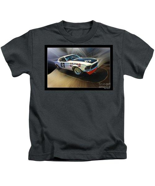 1969 Boss 302 Mustang Kids T-Shirt