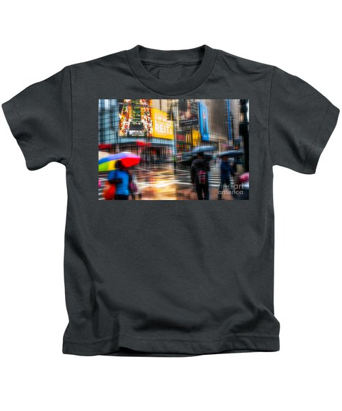 A Rainy Day In New York Kids T-Shirt