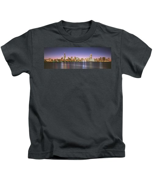 Buildings At The Waterfront, Chicago Kids T-Shirt