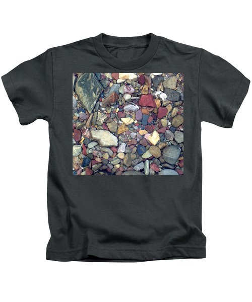 Colorful Lake Rocks Kids T-Shirt