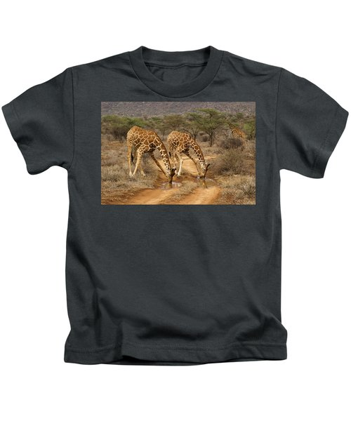 Drinking In Tandem Kids T-Shirt