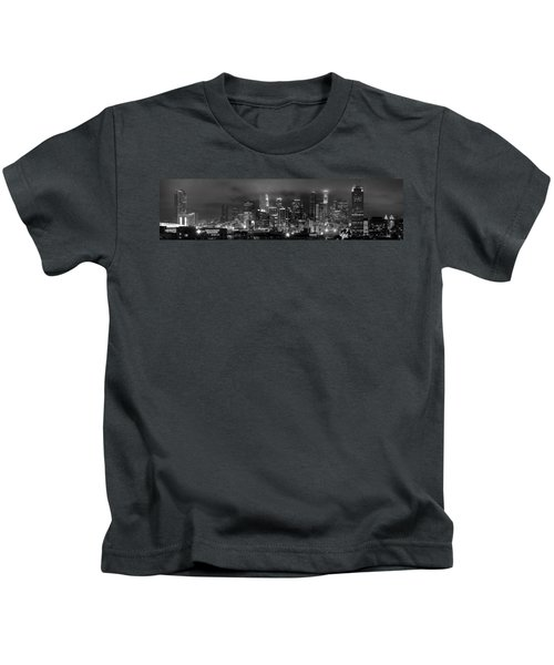 Gotham City - Los Angeles Skyline Downtown At Night Kids T-Shirt