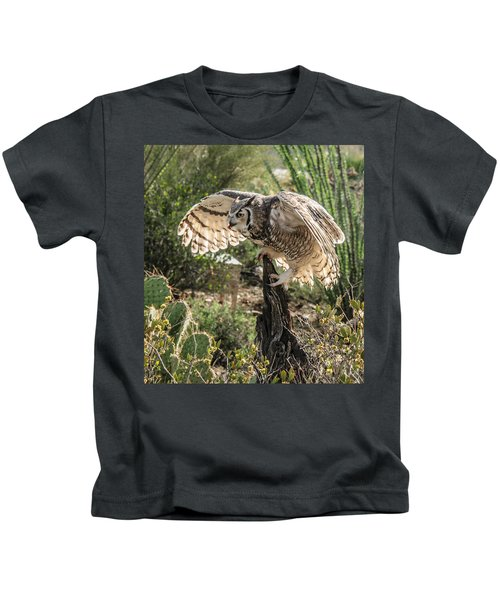 Great Horned Owl Kids T-Shirt