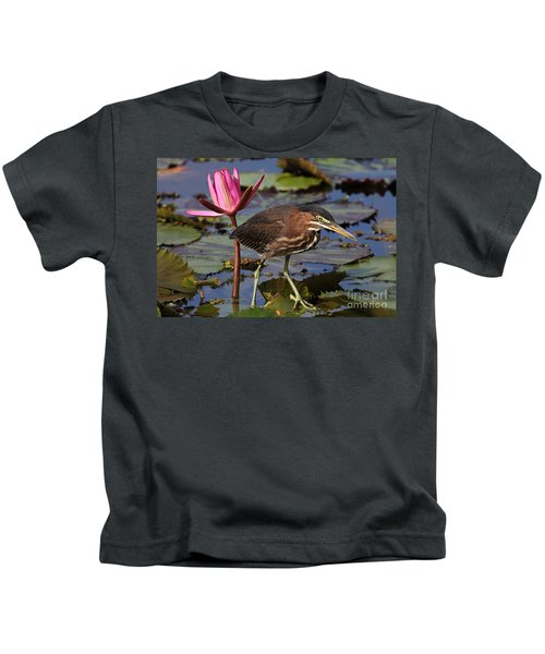 Green Heron Photo Kids T-Shirt