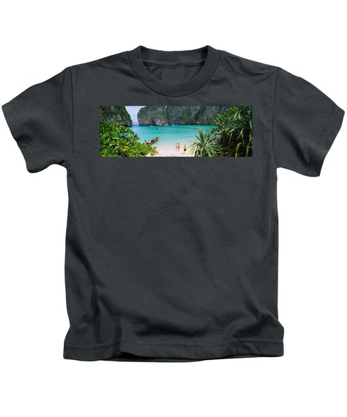 High Angle View Of Tourists Kids T-Shirt