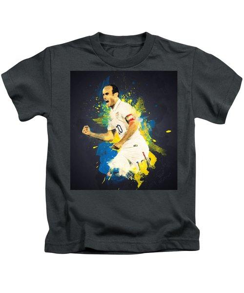 Landon Donovan Kids T-Shirt by Taylan Apukovska