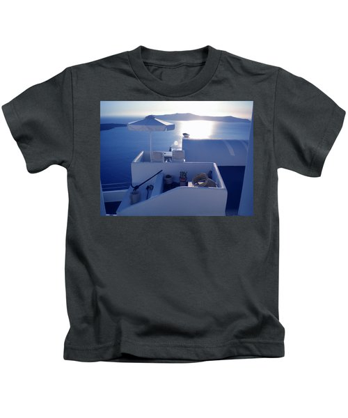 Kids T-Shirt featuring the photograph Santorini Island Greece by Colette V Hera  Guggenheim