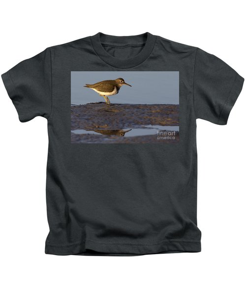 Spotted Sandpiper Reflection Kids T-Shirt