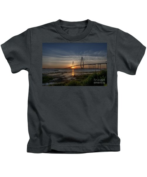 Sunset Over The Bridge Kids T-Shirt