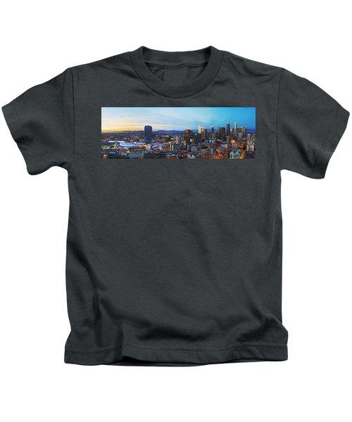 Los Angeles Skyline Kids T-Shirt by Kelley King