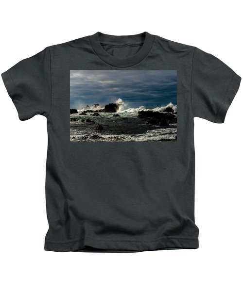 Stormy Seas And Skies  Kids T-Shirt