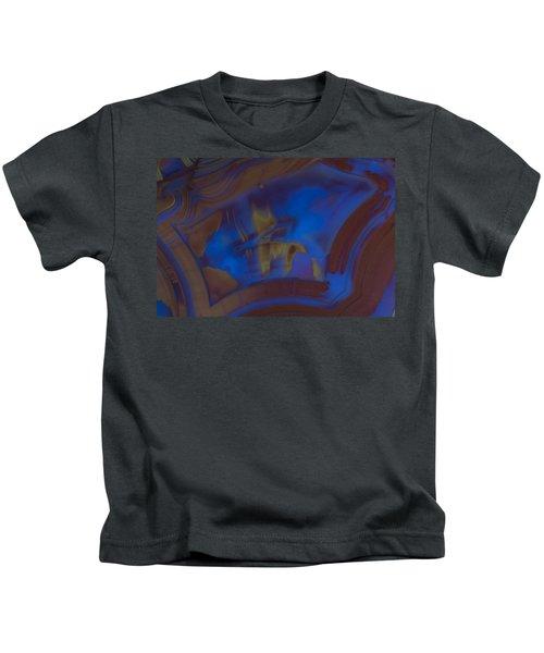 Blue Rock Design Kids T-Shirt
