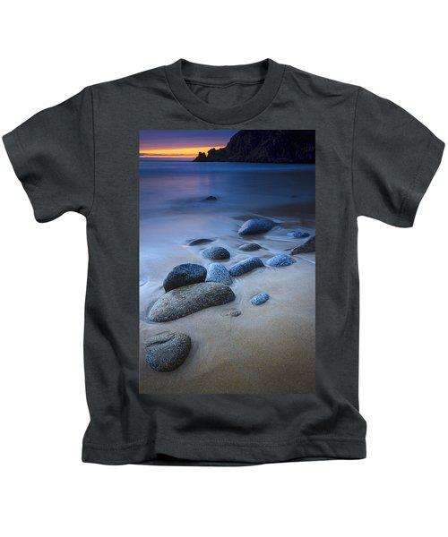Campelo Beach Galicia Spain Kids T-Shirt
