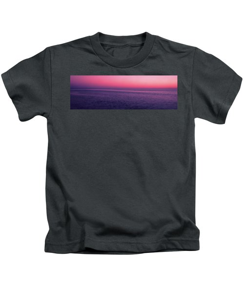 View Of Ocean At Sunset, Cape Cod Kids T-Shirt