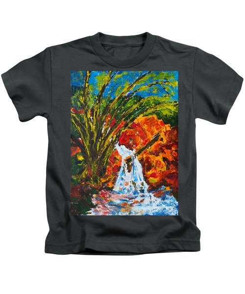 Burch Creek Waterfall Kids T-Shirt