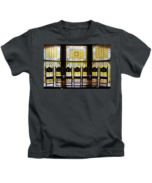 7 Chairs And Stained Glass Kids T-Shirt