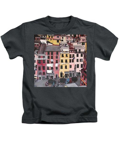 A Bird's Eye View Of Cinque Terre Kids T-Shirt
