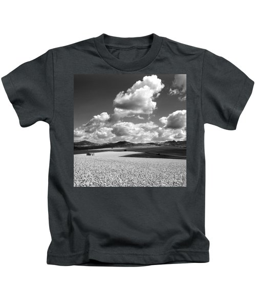 A Field Of Wheat. Limagne. Auvergne. France Kids T-Shirt