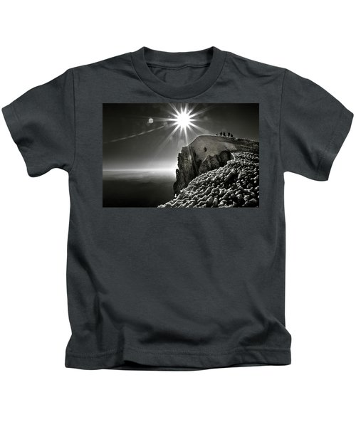 A Group Of Mountaineers Reach Kids T-Shirt