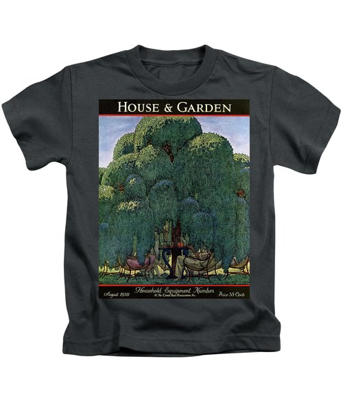 A House And Garden Cover Of People Dining Kids T-Shirt