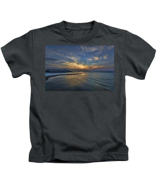 a joyful sunset at Tel Aviv port Kids T-Shirt