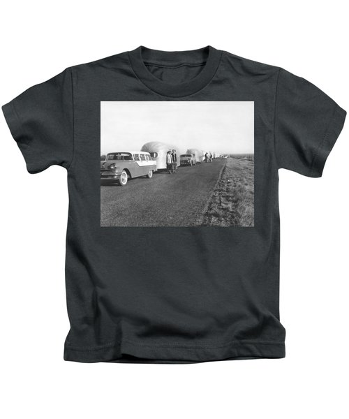 A Line Of Airstream Trailers Kids T-Shirt