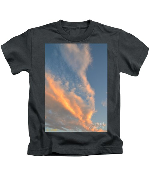 A Splash Of Peach Kids T-Shirt