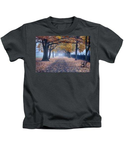 A Walk In Salem Fog Kids T-Shirt