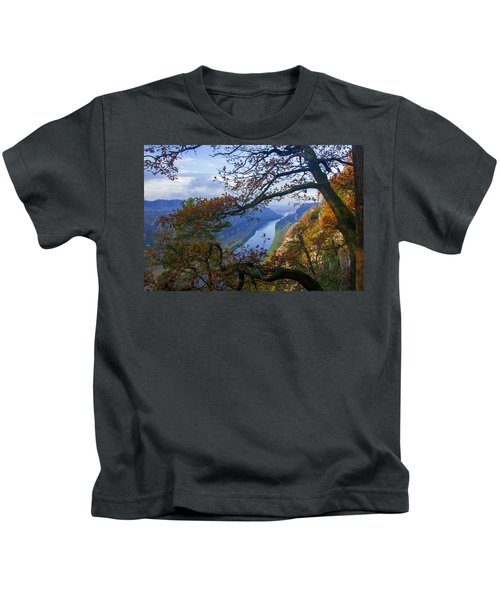A Window To The Elbe In The Saxon Switzerland Kids T-Shirt