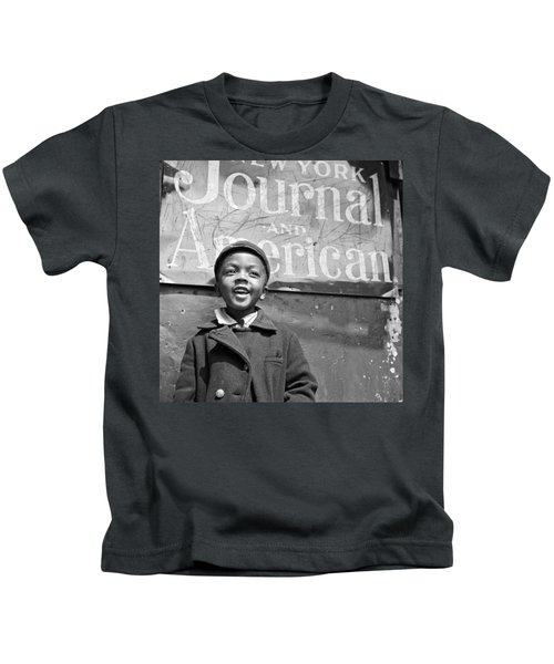A Young Harlem Newsboy Kids T-Shirt by Underwood Archives