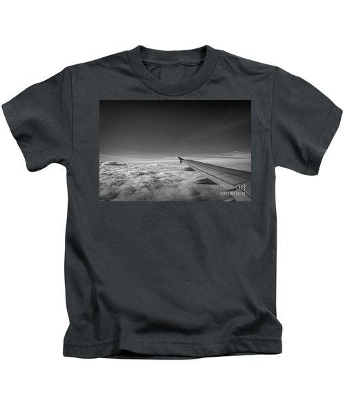 Above The Clouds Bw Kids T-Shirt