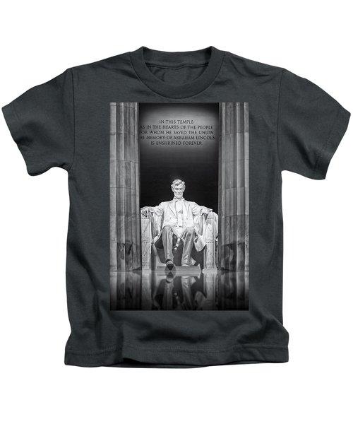 Abraham Lincoln Memorial Kids T-Shirt