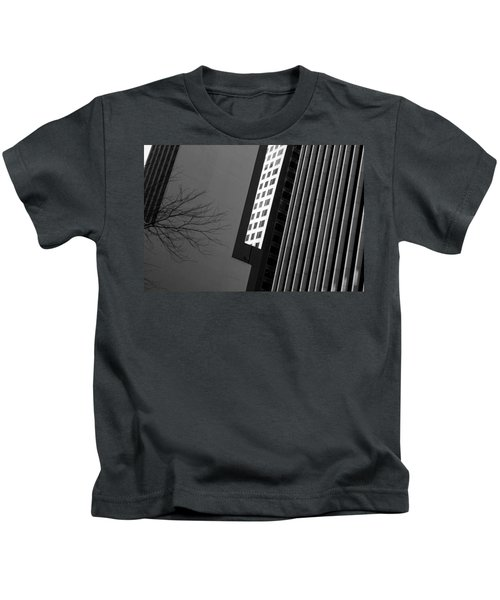 Abstract Building Patterns Black White Kids T-Shirt