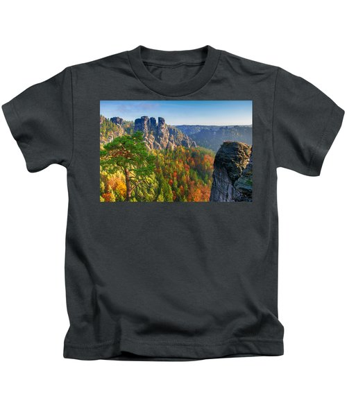 After The Sunrise On The Bastei Kids T-Shirt
