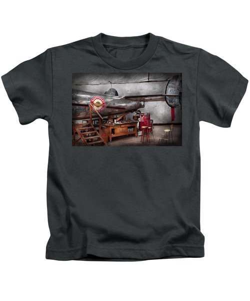 Airplane - The Repair Hanger  Kids T-Shirt