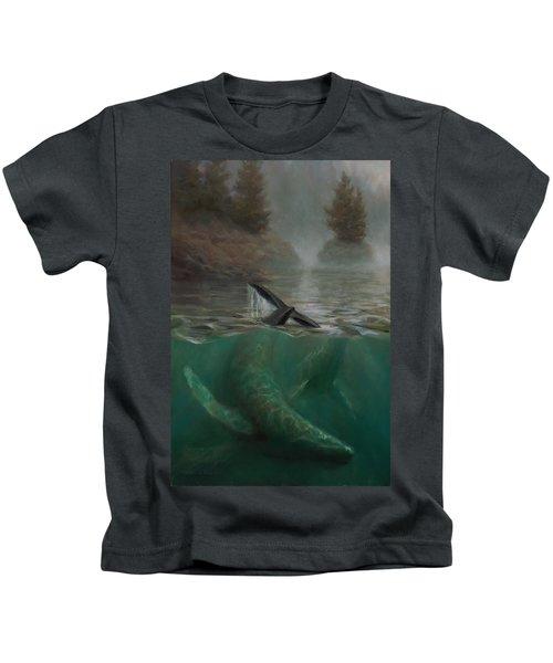 Humpback Whales - Underwater Marine - Coastal Alaska Scenery Kids T-Shirt