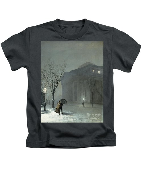 Albany In The Snow Kids T-Shirt