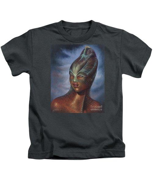 Alien Portrait I Kids T-Shirt