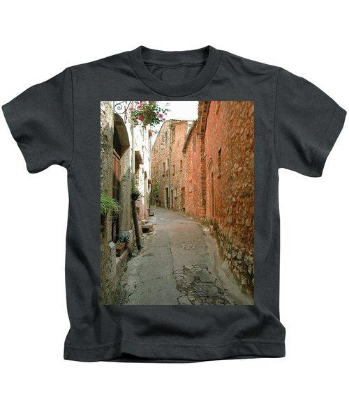 Alley In Tourrette-sur-loup Kids T-Shirt
