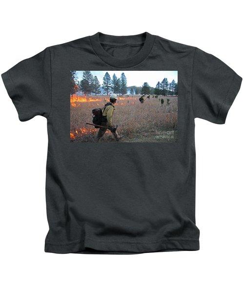 Alpine Hotshots Ignite Norbeck Prescribed Fire Kids T-Shirt
